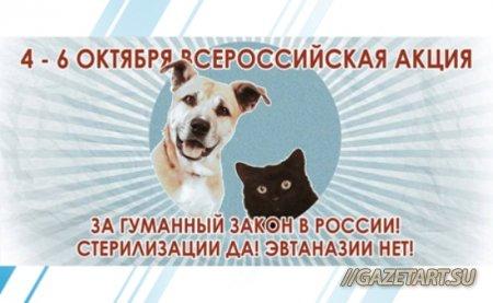 """В рамках всемирного дня защиты животных пройдет акция """"За гуманный закон для животных"""""""